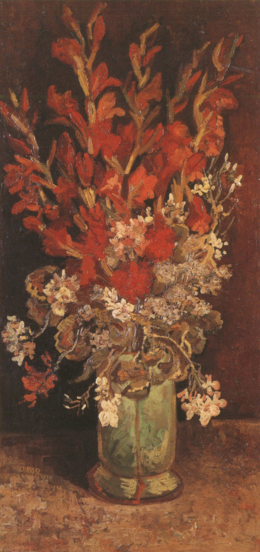 Винсент Ван Гог. Ваза с гладиолусами и гвоздиками