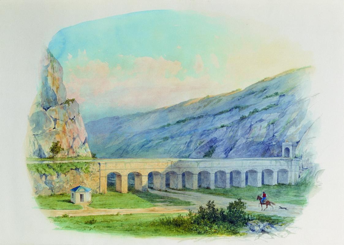 Лев Феликсович Лагорио. Севастопольский водопровод при деревне Чугуне