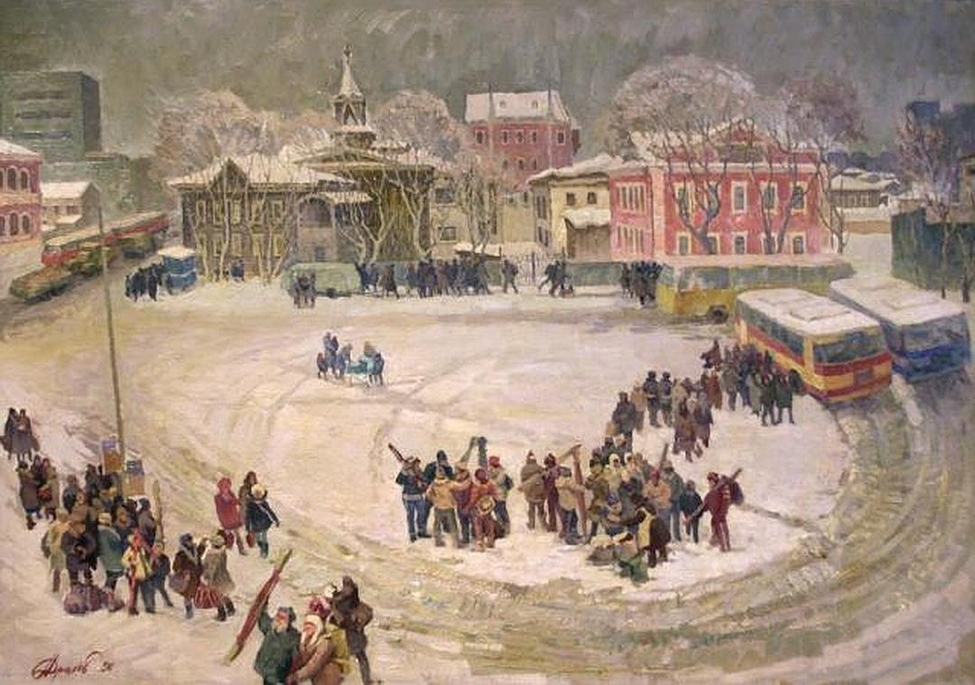 Alexey Alekseevich Drilev. Spartak Square. Thaw.