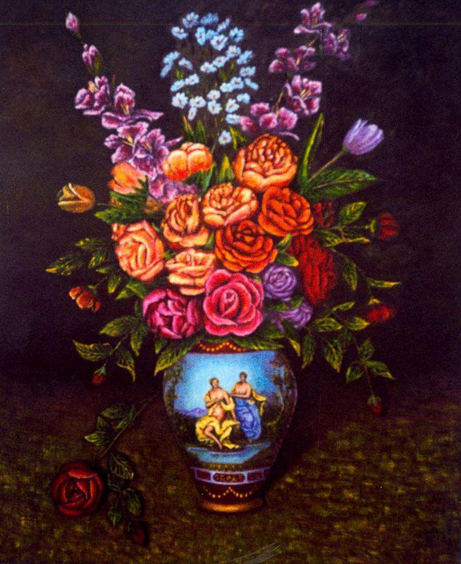 Франсиско Садорнил Сантамария. Ваза с цветами