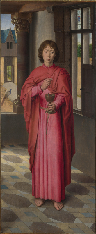 Hans Memling. Saint John The Evangelist. Triptych Donna. Right wing