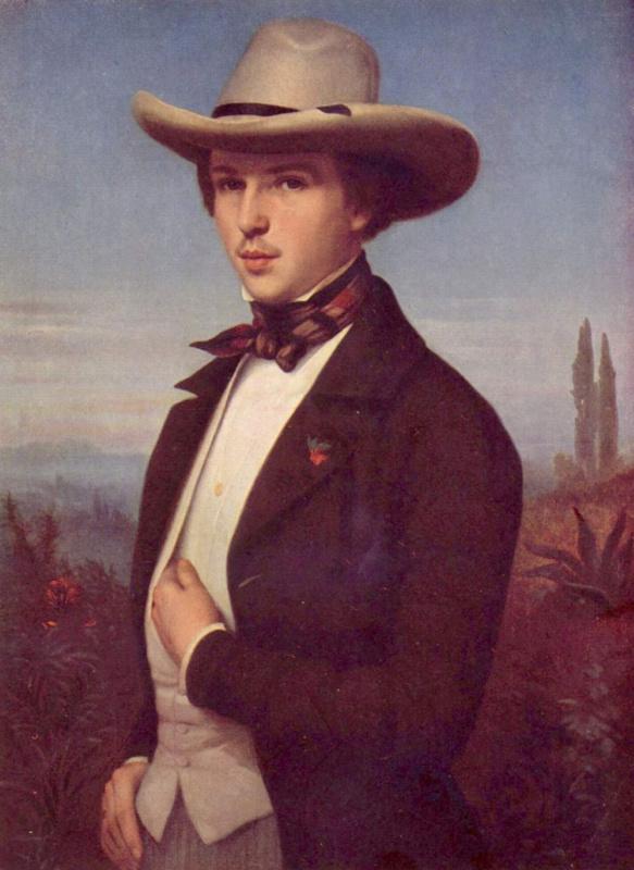 Людвиг де Кудре. Портрет Освальда Ахенбаха