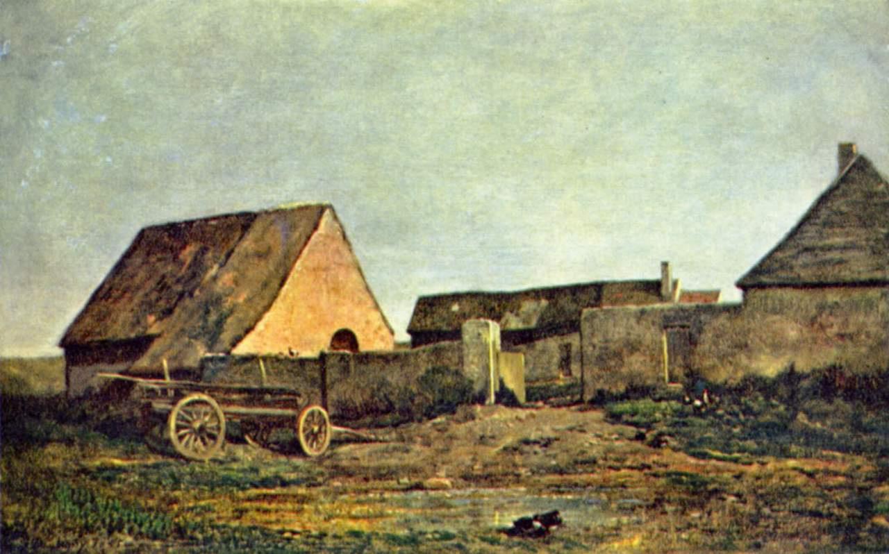 Шарль-Франсуа Добиньи. Крестьянский двор