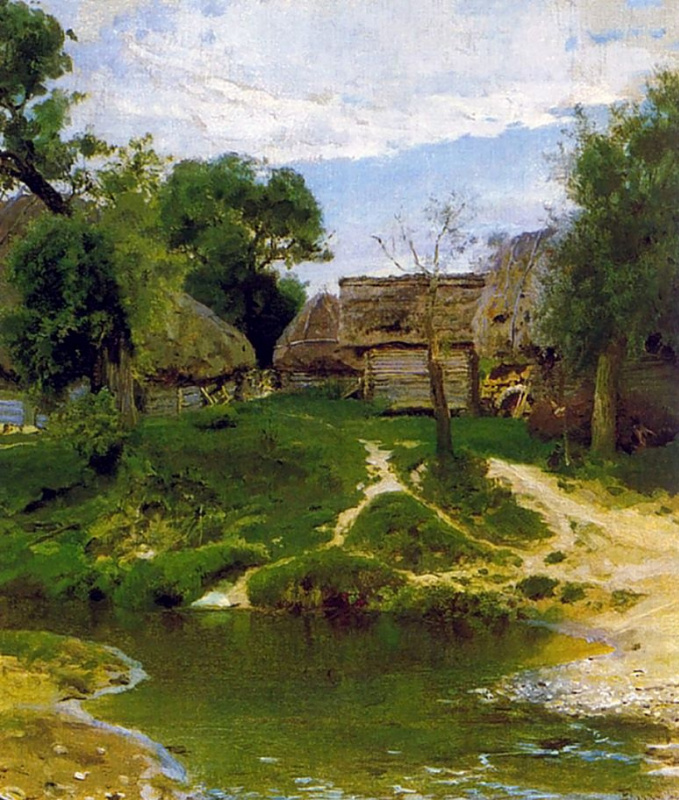 Василий Дмитриевич Поленов. Деревня Тургенево