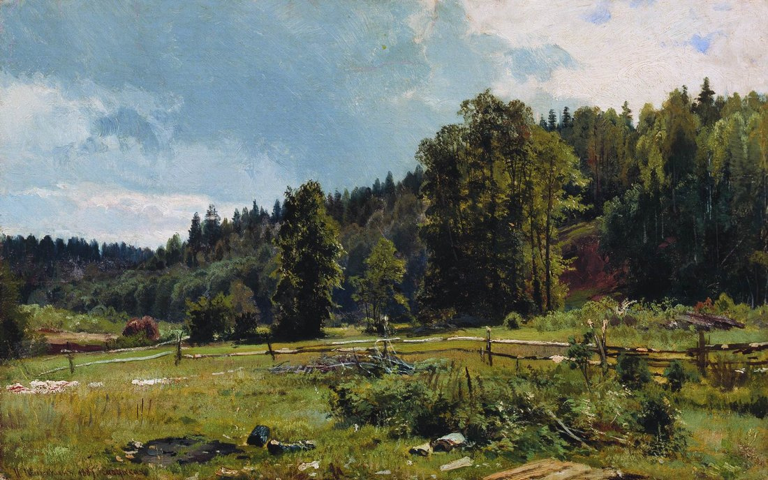 Ivan Shishkin. Meadow at the forest edge. Siverskiy