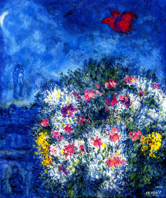 Marc Chagall. Purple bird