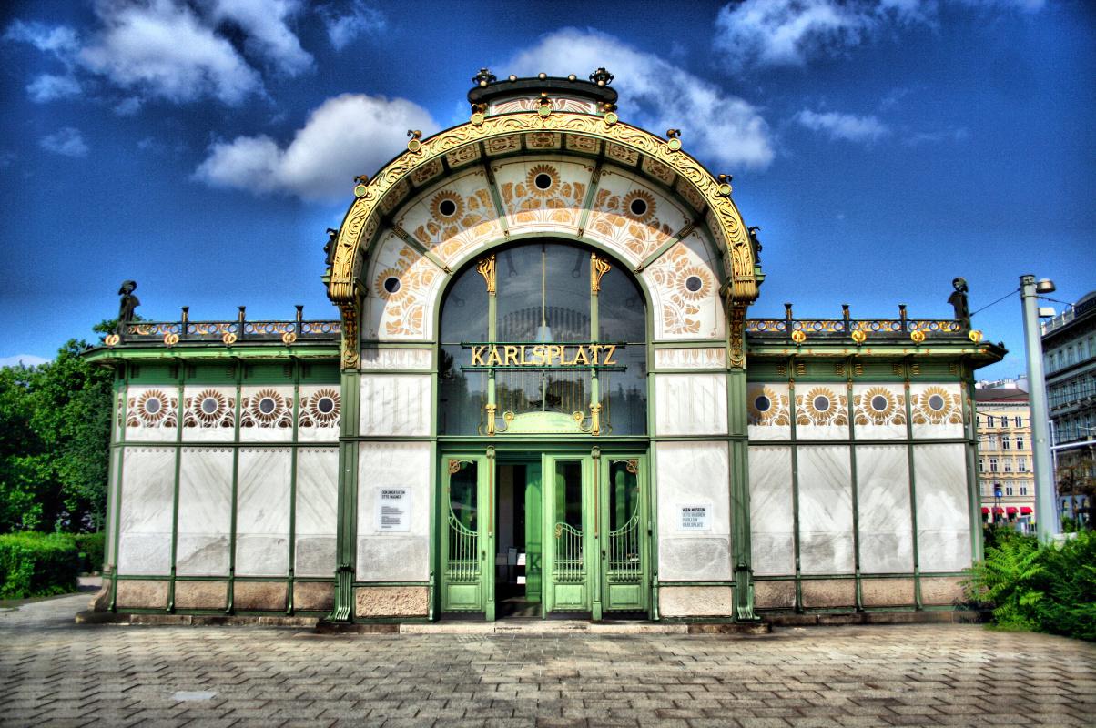 Отто Вагнер. Станция Городской Железной Дороги Карлсплац