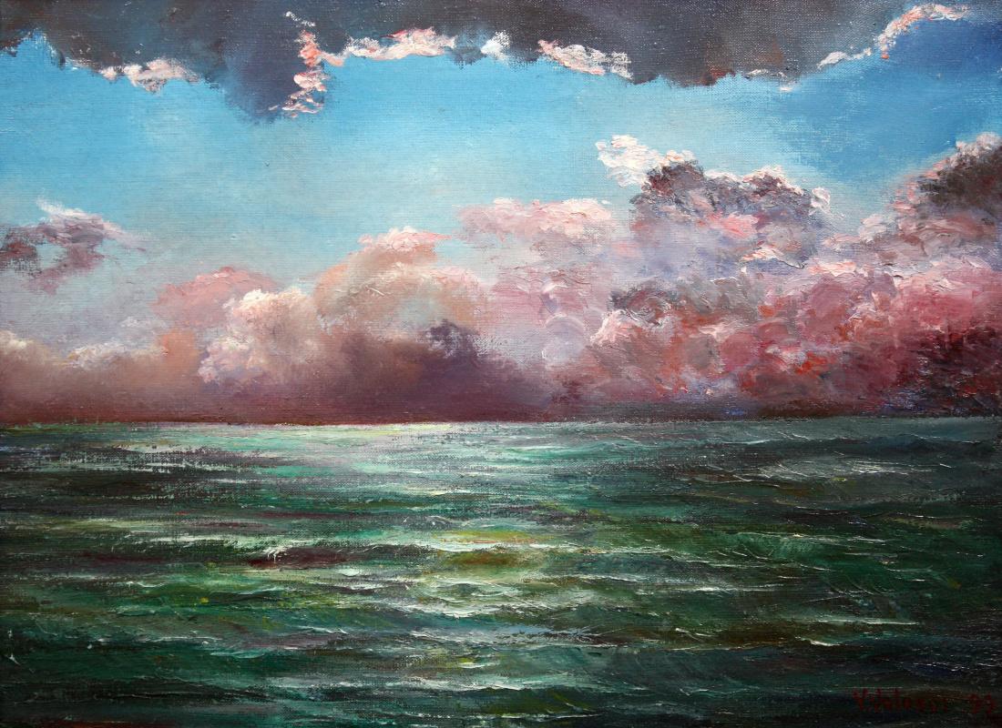 Vladimir Davidovich Volosov. Thunderstorm over the sea