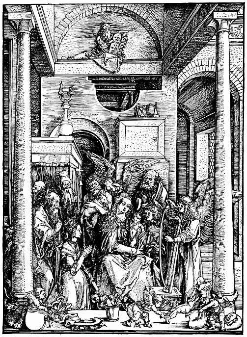 Альбрехт Дюрер. Поклонение Марии