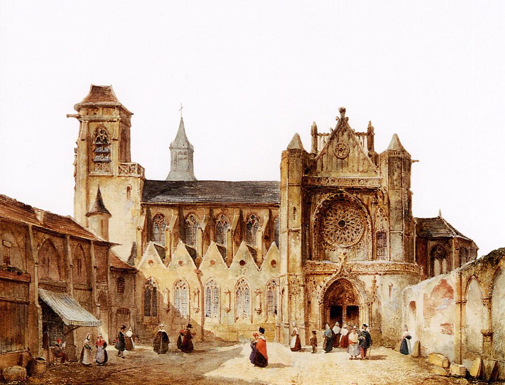 Франсуа Виллерет. Готическая церковь в французском городе
