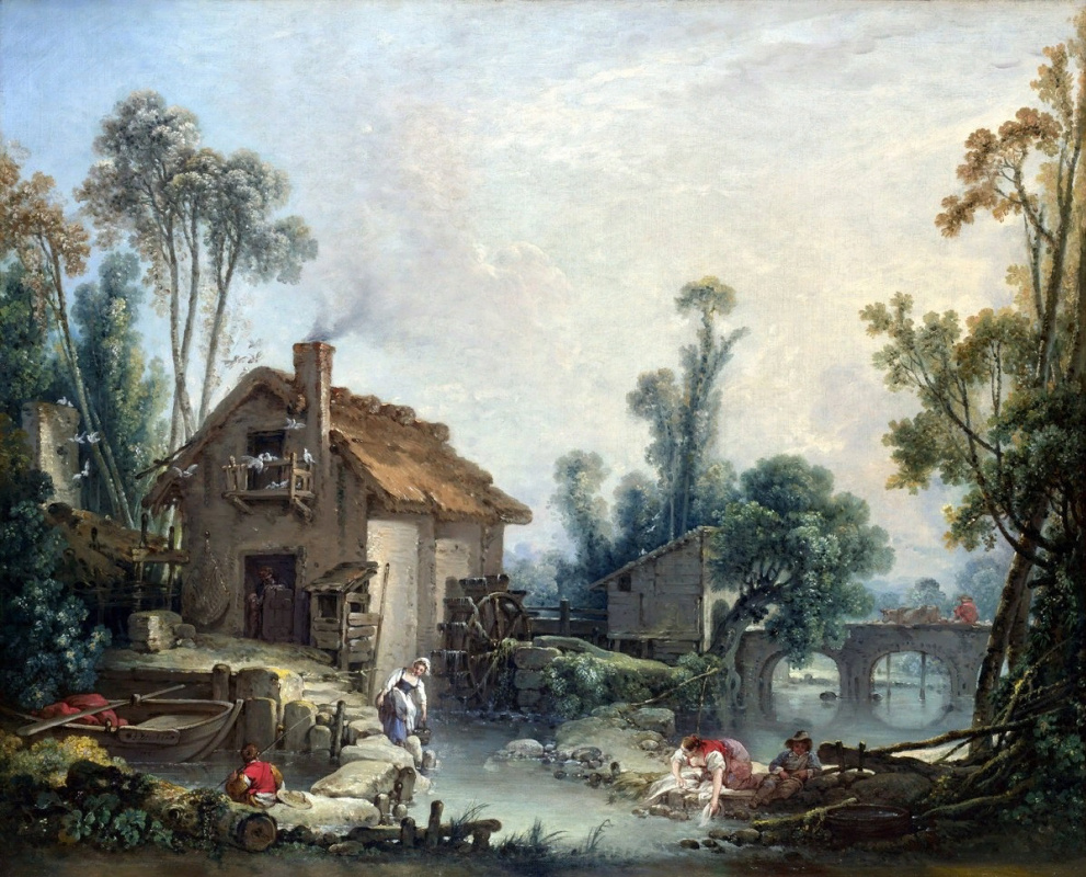 "Ivan Yakovlevich Tarty. ""Landscape with a water mill"""