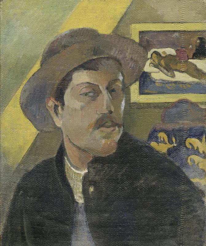 Поль Гоген. Автопортрет в шляпе