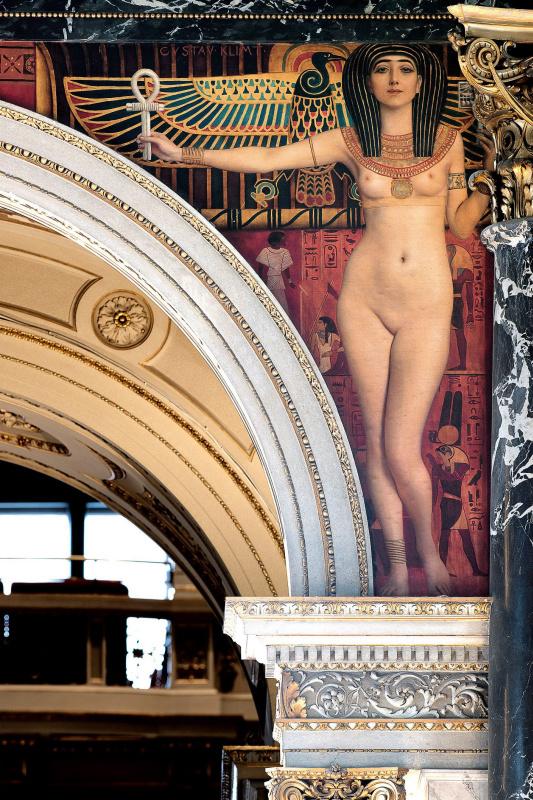 Египетское искусство (Роспись для музея истории искусства в Вене, левая половина)