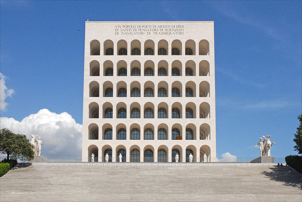 Giovanni Gerrini. Palace of Italian Civilization (Palazzo della Civiltà Italiana)