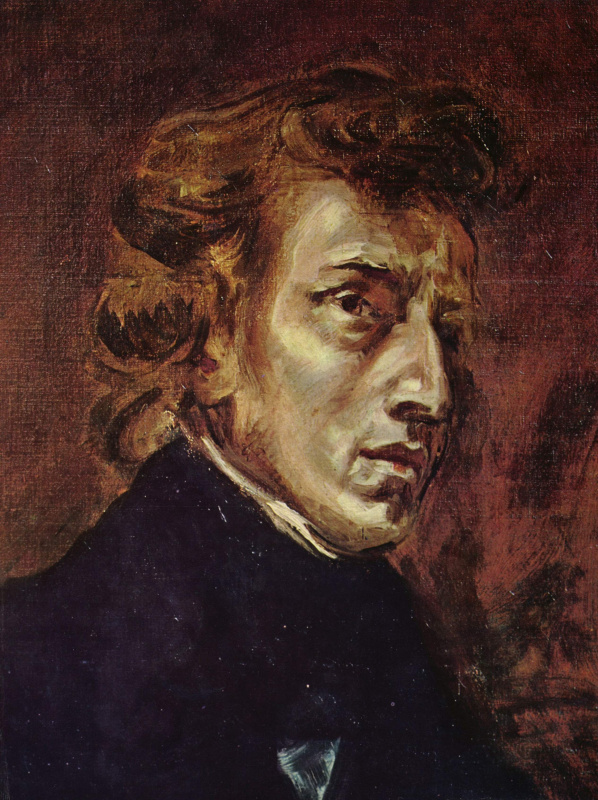 Eugene Delacroix. Portrait Of Frederic Chopin