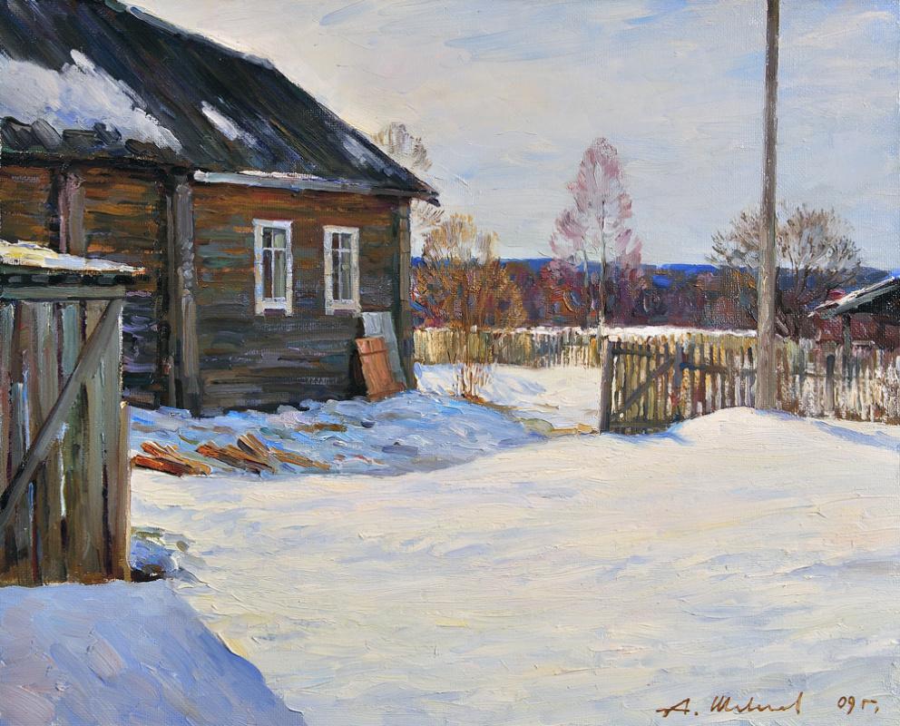 Alexander Shevelyov. Kalakaua.The spring sun.Oil on canvas 40,3 # 50,5 cm, 2009