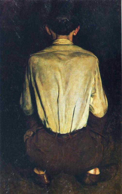 Jamie Wyeth. Back men