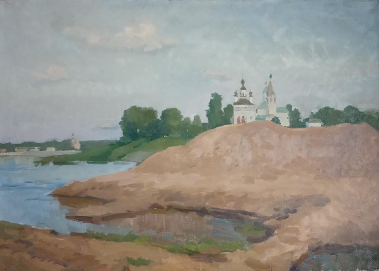 Anna Glazunova. On the shore of Sukhona