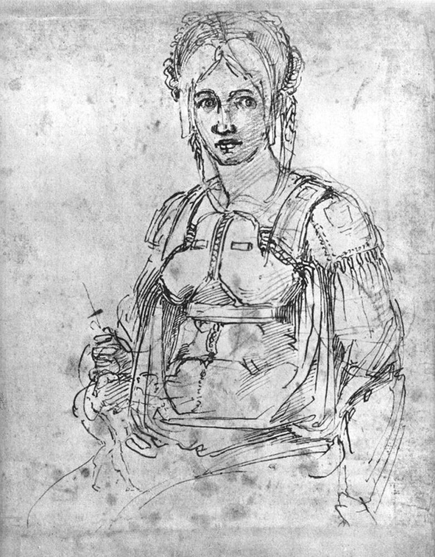 Michelangelo Buonarroti. Portrait Of Vittoria Colonna