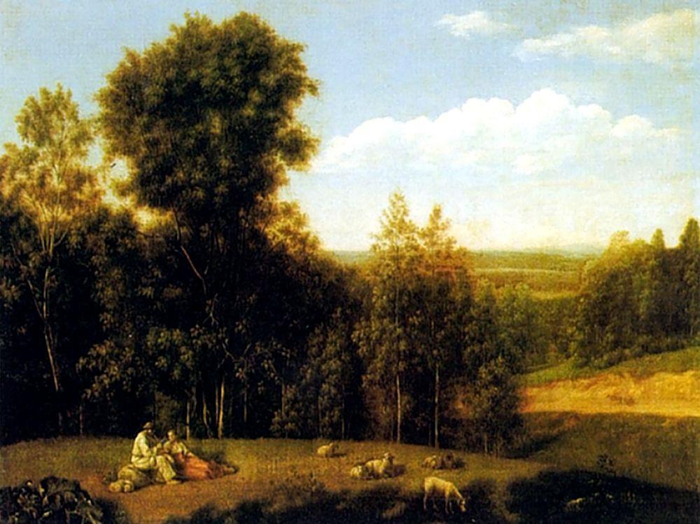Семен Федорович Щедрин. Вид в окрестностях Старой Руссы