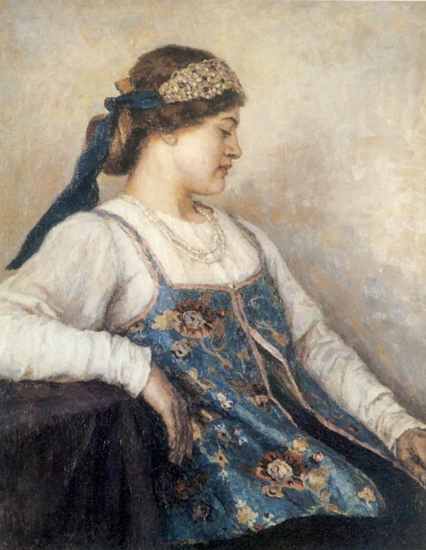 Vasily Ivanovich Surikov. Portrait Of Natalia Fedorovna Matveeva
