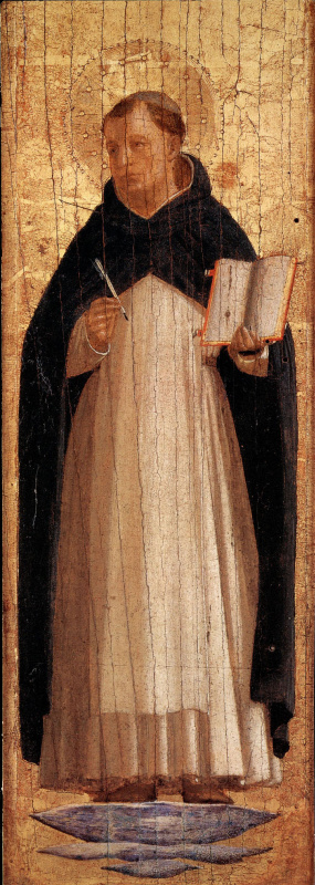 Fra Beato Angelico. St. Thomas Aquinas. Pilaster altar of the monastery of San Marco