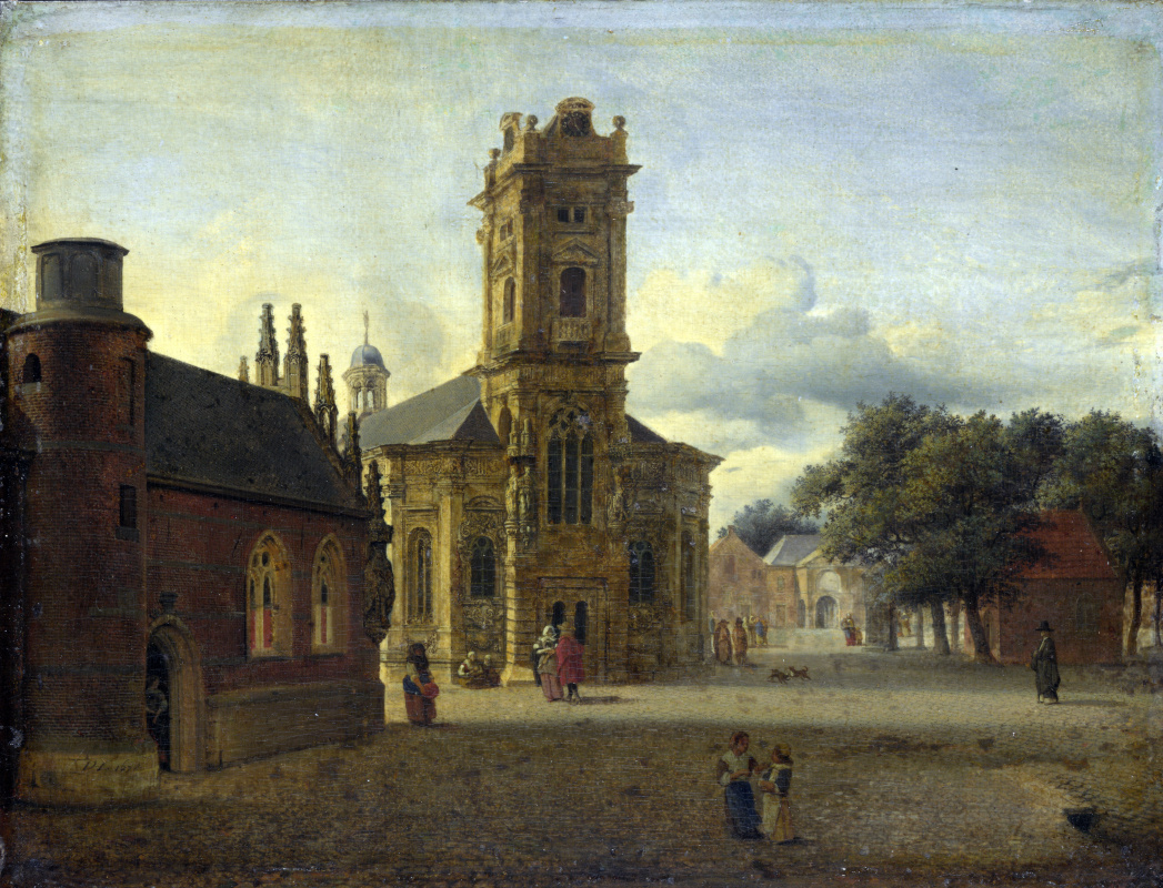 Ян ван дер Хейден. Площадь перед церковью