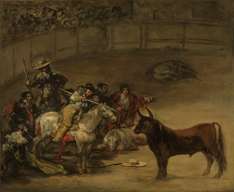 Франсиско Гойя. Бой быков. Суэрте де варас