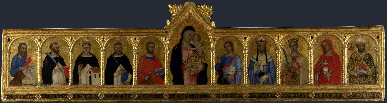 Андре ди  Бонайути (Фиренце). Дева с младенцем и святыми
