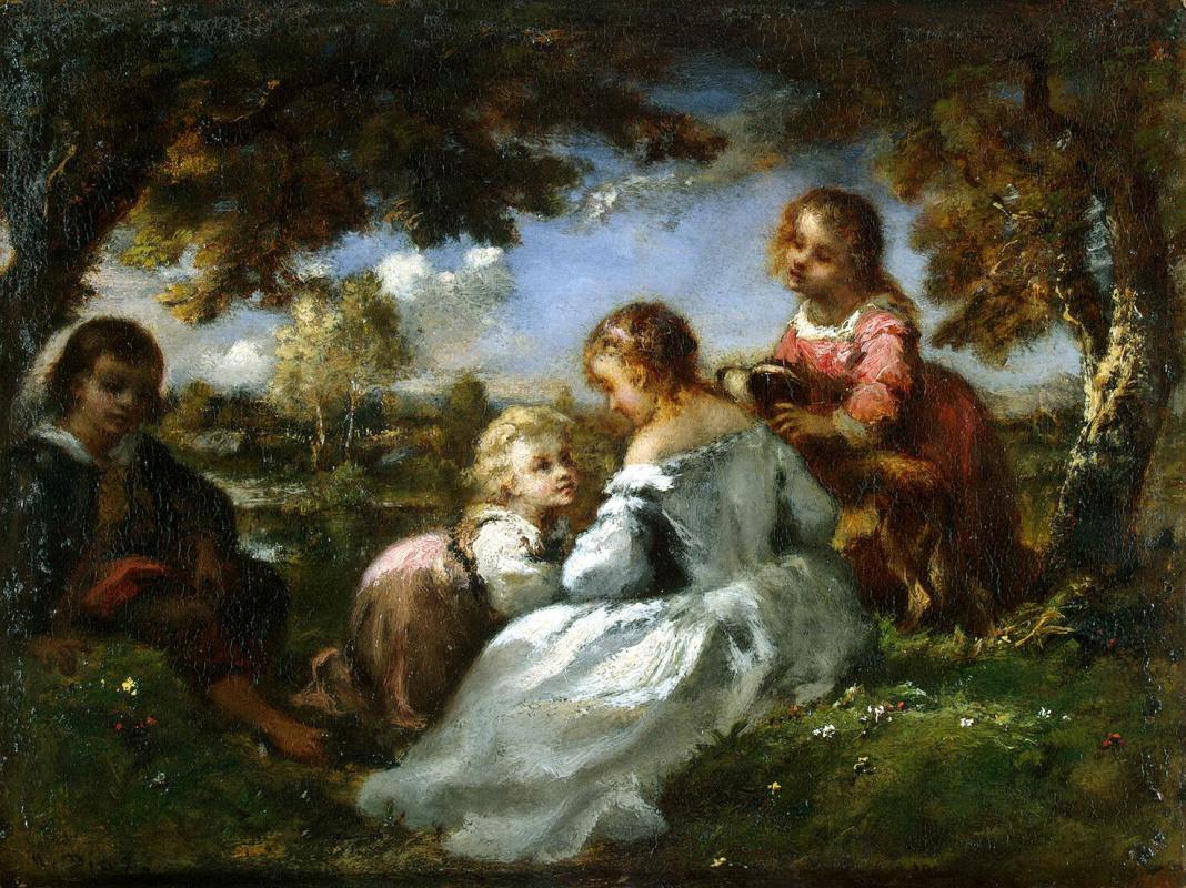Нарсис Виржилио Диас де ла Пёнья. Дети в саду