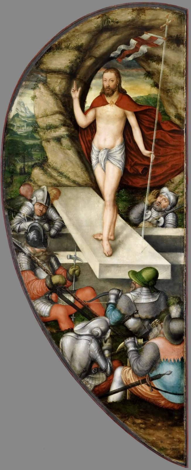 Лукас Кранах Младший. Алтарь Кольдицер. Правая внутренняя створка: Воскресение Христа