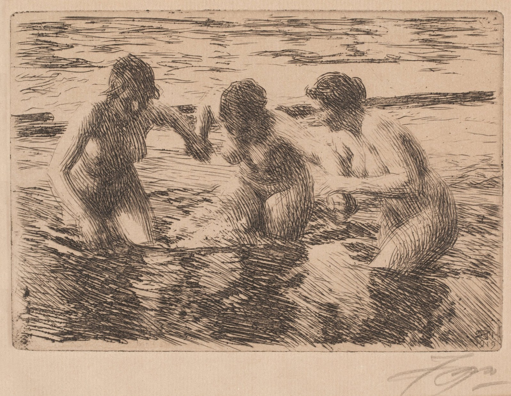 Anders Zorn. Against the tide