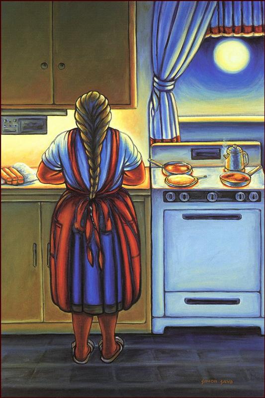 Симон Сильва. На кухне