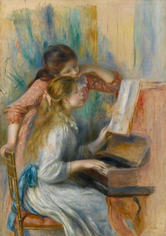 Pierre-Auguste Renoir. Two girls at the piano. Sketch