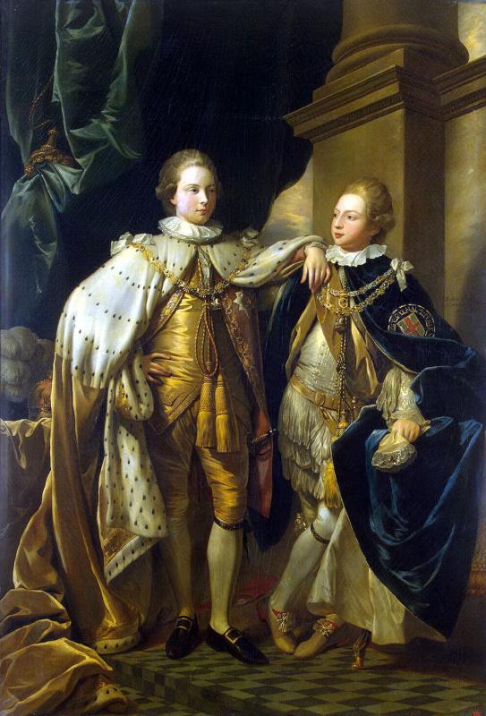 Бенджамен Уэст. Портрет Георга, принца Уэльского и принца Фредерика