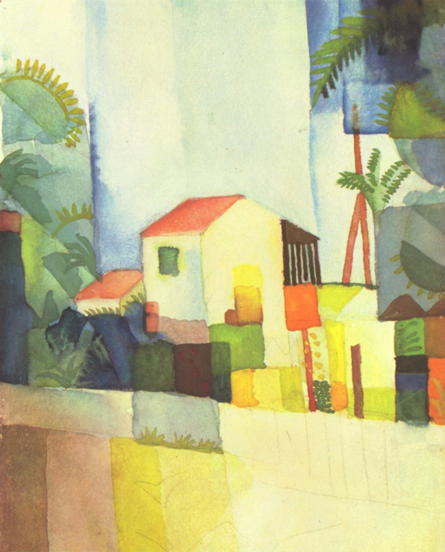 August Macke. Bright house