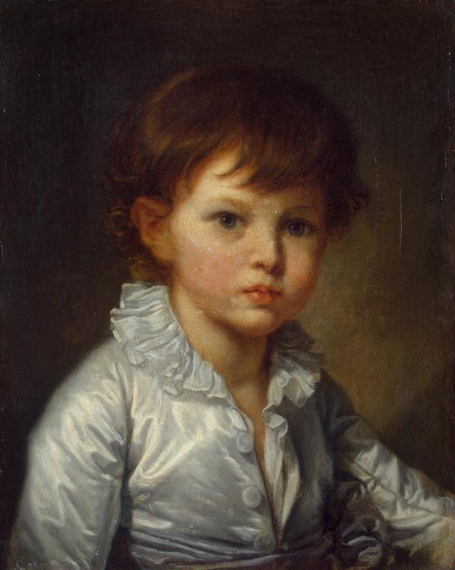 Жан-Батист Грёз. Портрет графа Строганова в детстве