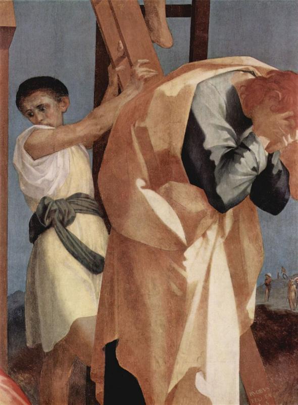 Россо Фьорентино. Снятие с креста, деталь