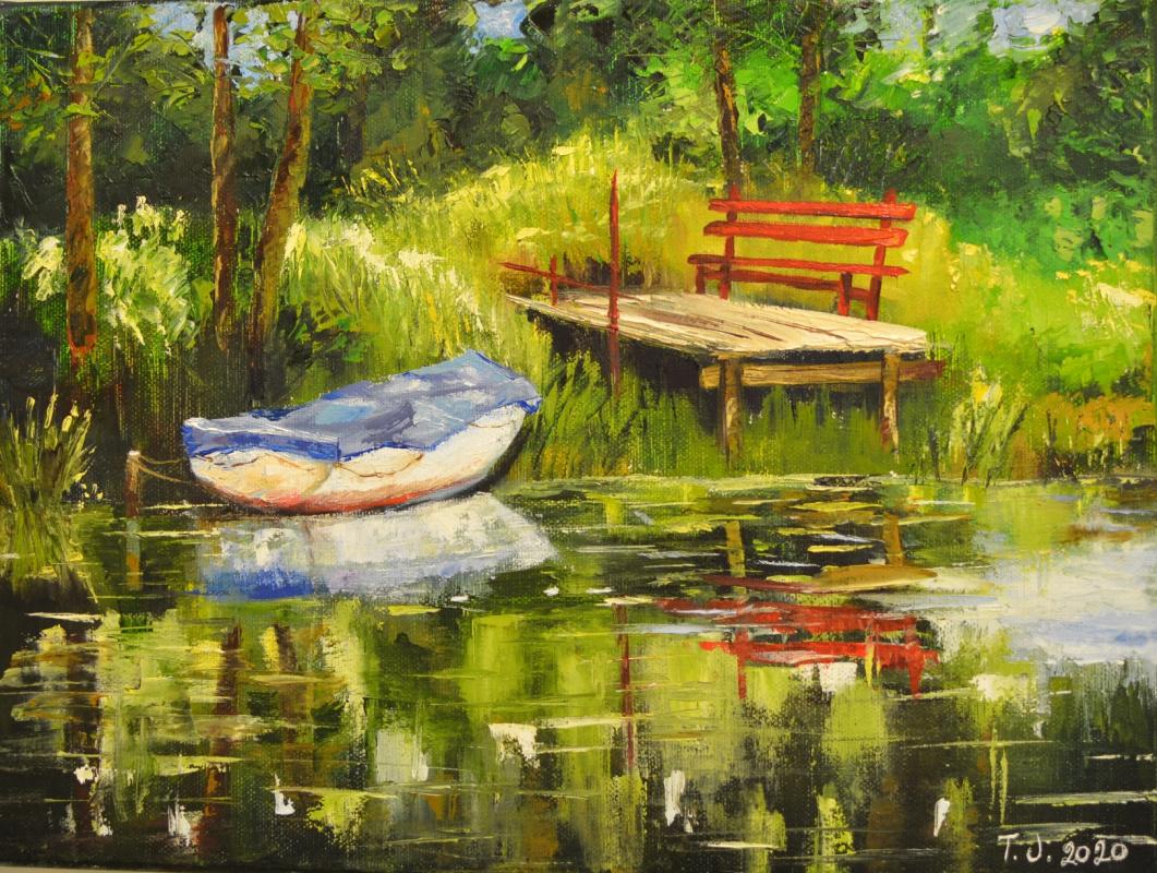 Tanja Jortikka. By the lake