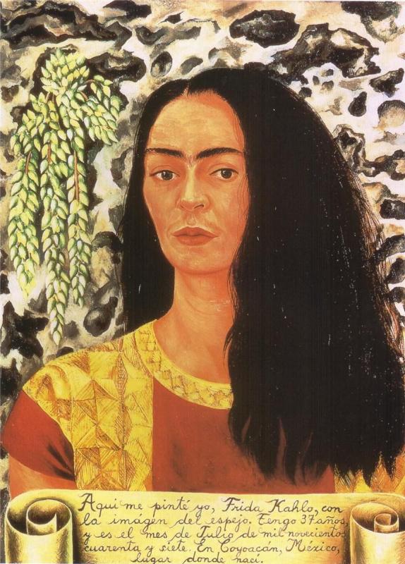 Фрида Кало. Автопортрет с распущенными волосами
