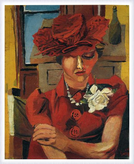 Renato Guttuso. Mimi in the red hat
