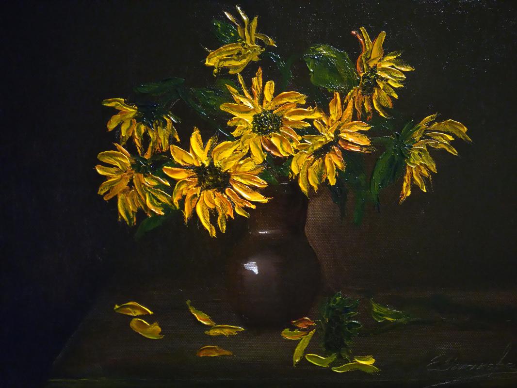 Ekaterina Evgenievna Ushakova. Sunflowers