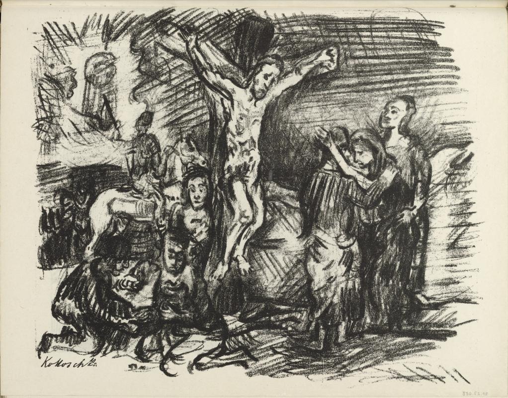 Oskar Kokoschka. The crucifixion