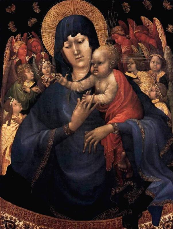 Жан Малуэль. Мадонна с Младенцем и ангелами