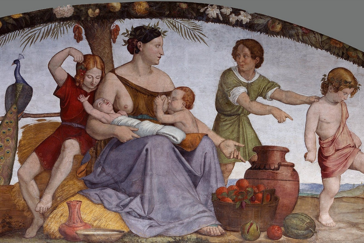 Johann Friedrich Overbeck. Murals from the House Bartholdi: Seven obese years. Fragment