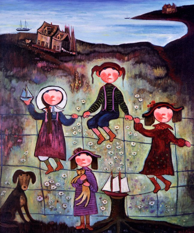 Нер Де Грейс. Дети на заборе