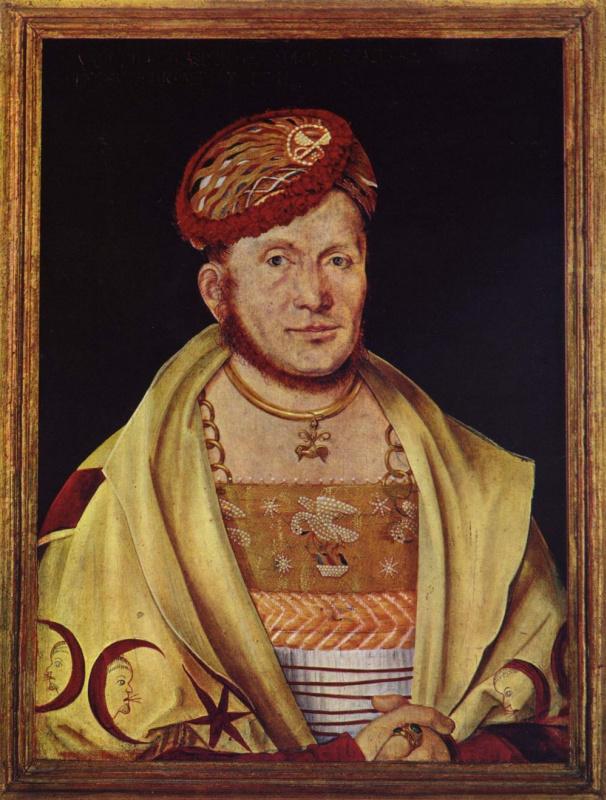 Ганс Зюс фон Кульмбах. Портрет маркграфа Казимира Бранденбургского