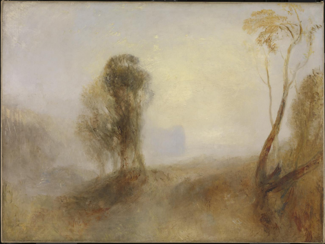 Joseph Mallord William Turner. Dawn, the castle above the Bay. Privacy
