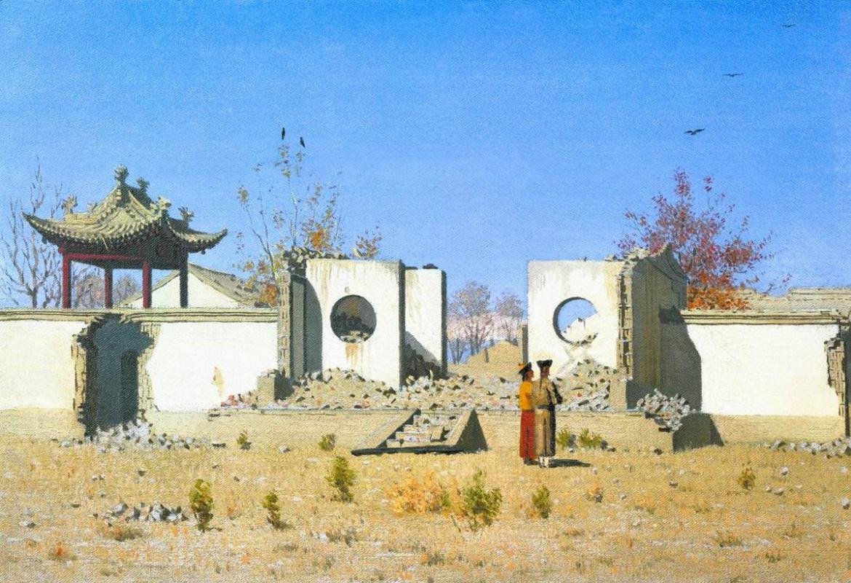 Vasily Vereshchagin. The ruins of the Chinese Joss-house. AK-Kent