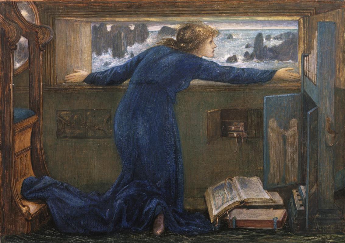 Edward Coley Burne-Jones. Dorigen from Brittany, eager for the safe return of her husband